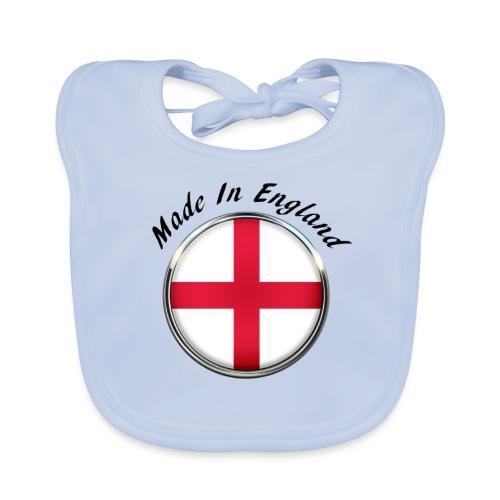 Made In England ( black text ) - Baby Organic Bib