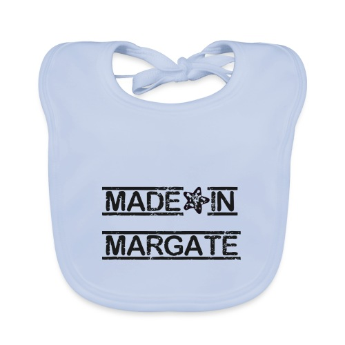 Made in Margate - Black - Baby Organic Bib