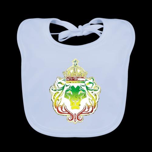 LION FACE RGG wht edge - Baby Organic Bib