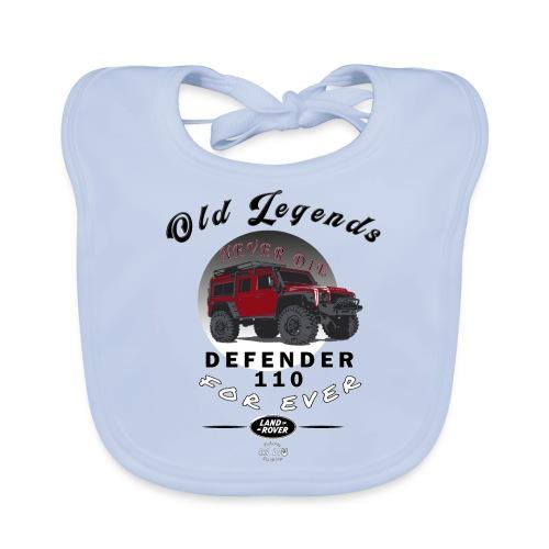 Old Legends - Defender - Babero de algodón orgánico para bebés