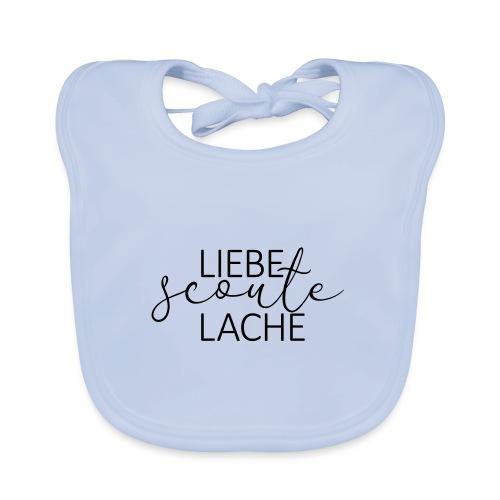 Liebe Scoute Lache Lettering - Farbe frei wählbar - Baby Bio-Lätzchen