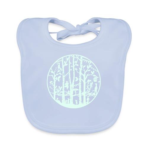 Mandala knipkunst lente - Bio-slabbetje voor baby's