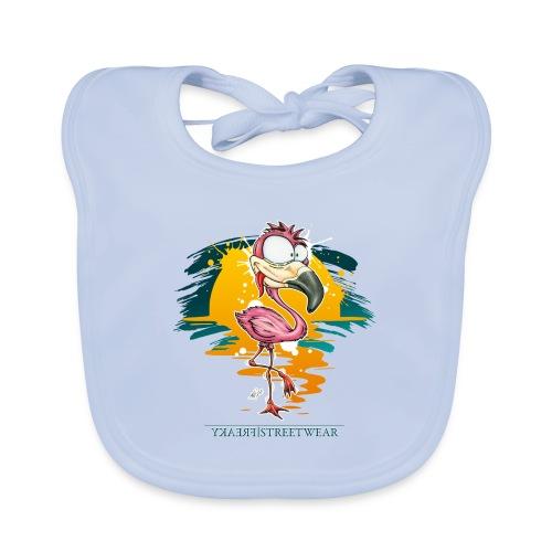 Flamingo Weirdo - Baby Bio-Lätzchen