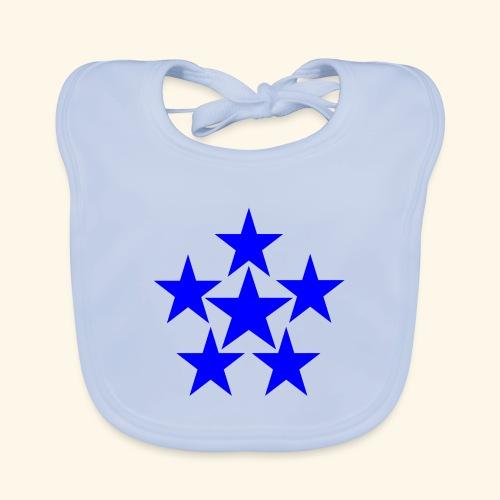 5 STAR blau - Baby Bio-Lätzchen