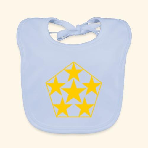 5 STAR gelb - Baby Bio-Lätzchen