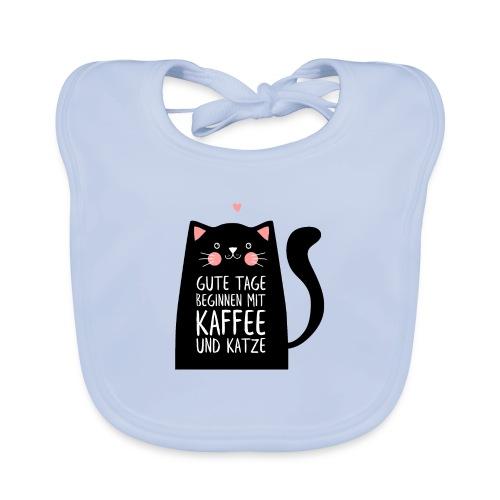 Gute Tage starten mit Kaffee und Katze - Baby Bio-Lätzchen