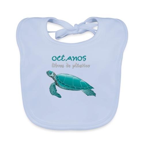 Océanos libres de plástico - Babero de algodón orgánico para bebés