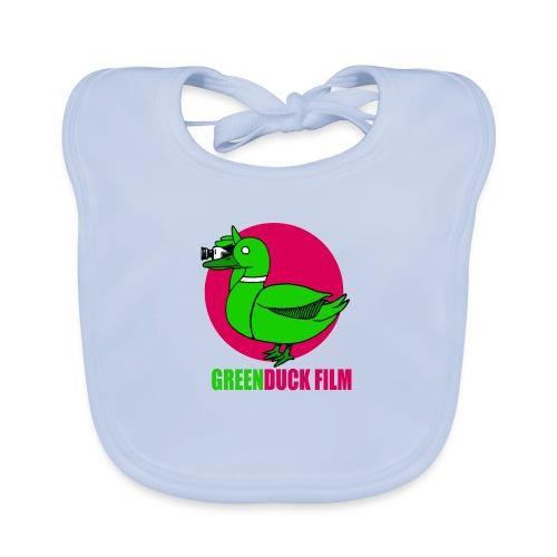 Greenduck Film dark pink Sun Logo - Hagesmække af økologisk bomuld