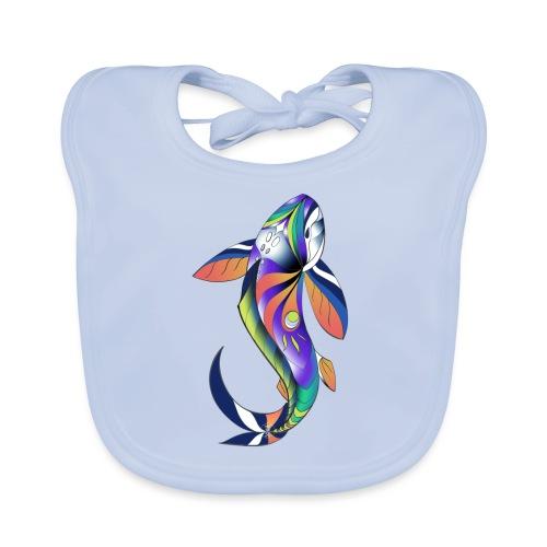 Regenbogen Fisch - Baby Bio-Lätzchen