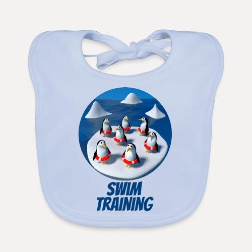 Pinguine beim Schwimmunterricht - Organic Baby Bibs