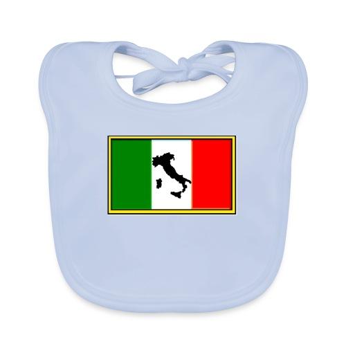 Bandiera Italiana2 - Bavaglino ecologico per neonato