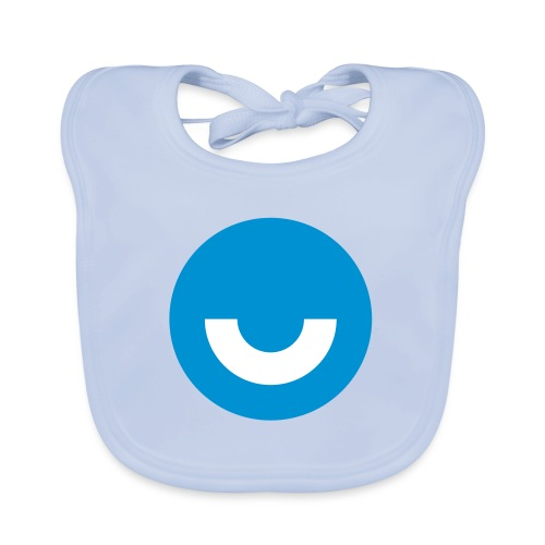 upday Icon blau - Organic Baby Bibs