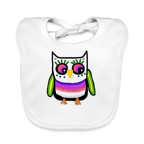Colorful owl - Organic Baby Bibs