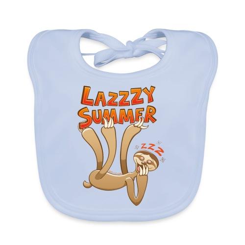 Sleepy sloth yawning and enjoying a lazy summer - Baby Organic Bib