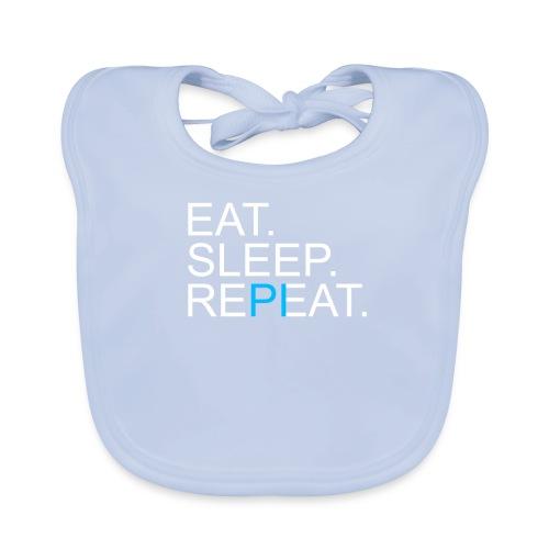 Eat Sleep Repeat PI Mathe Dunkel - Baby Bio-Lätzchen