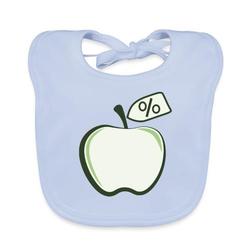 Sund på budget logo til mørke produkter - Hagesmække af økologisk bomuld