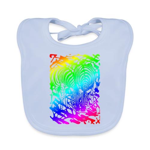 Rainbow Zebras - Vauvan ruokalappu