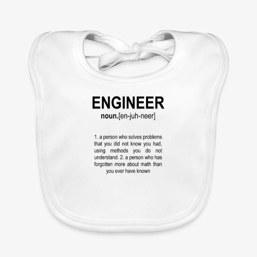 Engineer Def. 2 Black - Bavoir bio Bébé