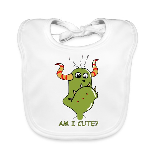 Cute monster - Baby Organic Bib