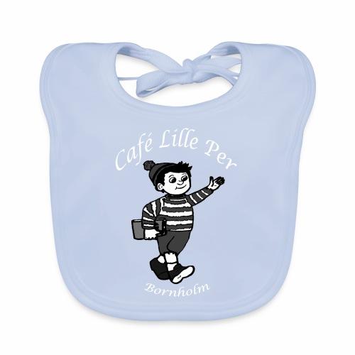 Cafe LillePer Logo BW - Hagesmække af økologisk bomuld