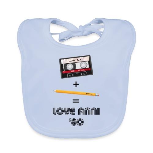 Maglietta love anni 80 - Bavaglino ecologico per neonato
