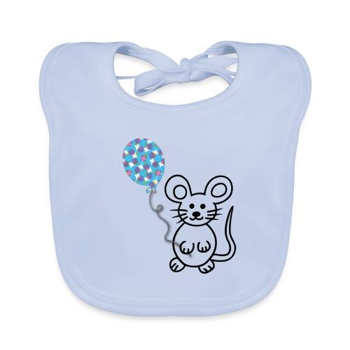 Maus, Luftballon - Baby Bio-Lätzchen