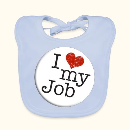 I ❤ my Job Button - Baby Bio-Lätzchen