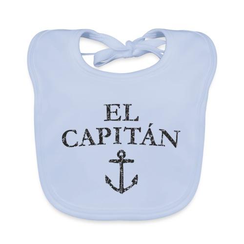 El Capitan Anker (Vintage Schwarz) Käpt'n Segeln - Baby Bio-Lätzchen