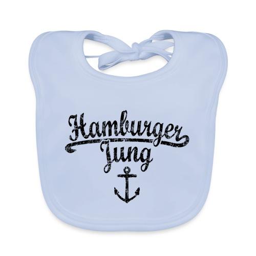 Hamburger Jung Klassik (Vintage Schwarz) Hamburg - Baby Bio-Lätzchen
