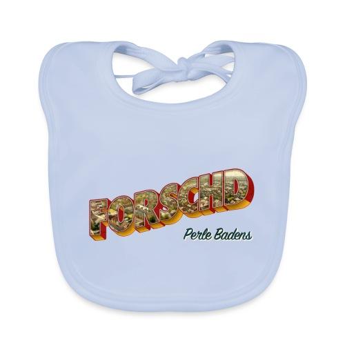 Forschd - Perle Badens - Vintage-Logo mit Luftbild - Baby Bio-Lätzchen