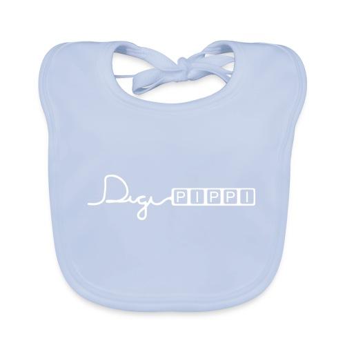 DP Logo White - Hagesmække af økologisk bomuld