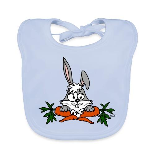Lapin avec carottes, végétarien, végan - Bavoir bio Bébé
