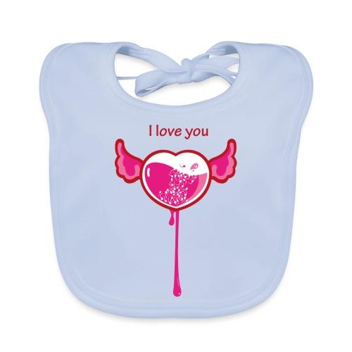I love you - Bavaglino ecologico per neonato
