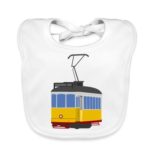 Tram car yellow - Organic Baby Bibs