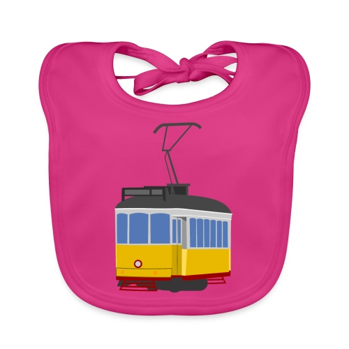 Tram car yellow - Baby Organic Bib