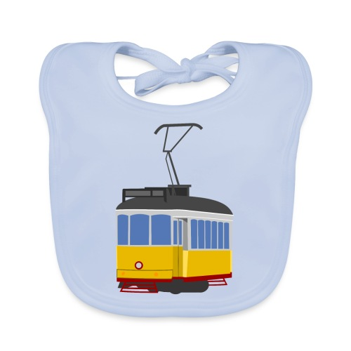 Tram car yellow - Organic Baby Bibs