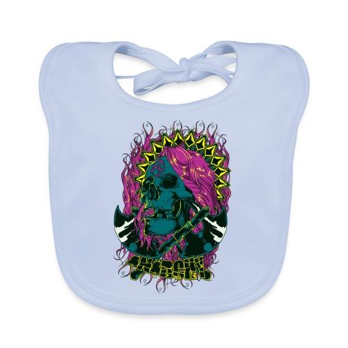 Purple Anarchy - Babero de algodón orgánico para bebés