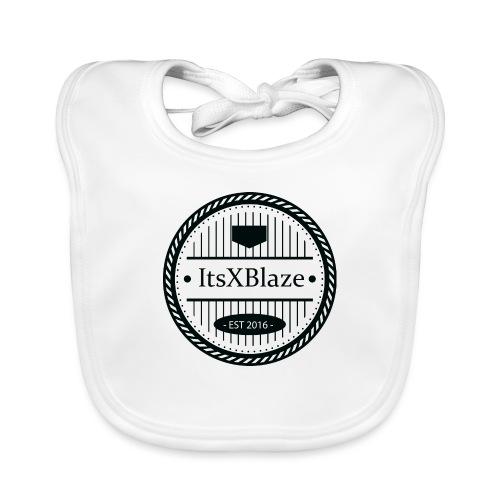 ItsXBlaze Logo 3 White V-Neck Option 1 - Bio-slabbetje voor baby's