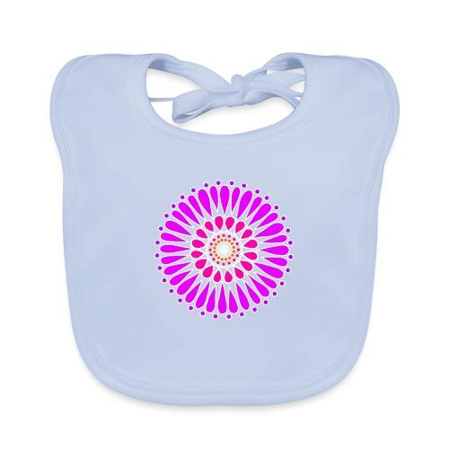 Purple Double Sunflower Mandala - Baby Organic Bib