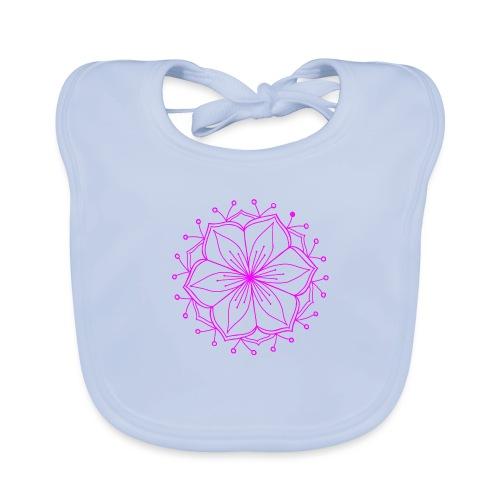 Pink Lotus Mandala - Baby Organic Bib