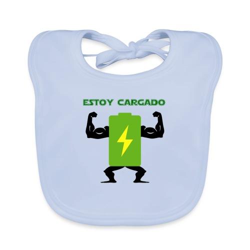 Batería cargada - Babero de algodón orgánico para bebés