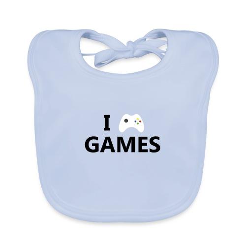 I Love Games - Babero ecológico bebé