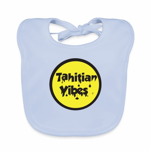 Tahitian Vibes jaune noir rond logo - Bavoir bio Bébé