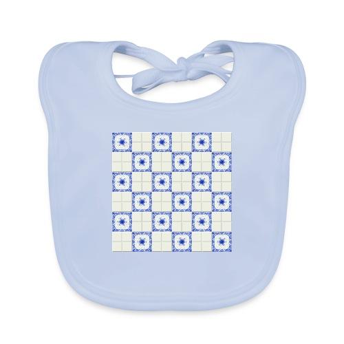 DutchieBlue1-Tile Pattern - Bio-slabbetje voor baby's