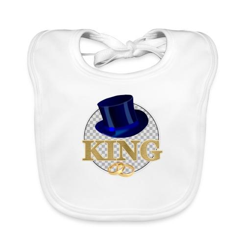 KING mit Hut - Baby Bio-Lätzchen