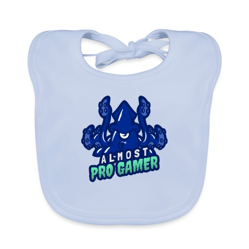 Almost pro gamer BLUE - Bavaglino ecologico per neonato