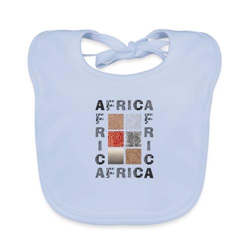 Africa background with wild animal - Baby Bio-Lätzchen