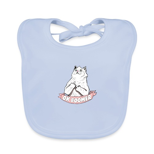 OK Boomer Cat Meme - Baby Organic Bib