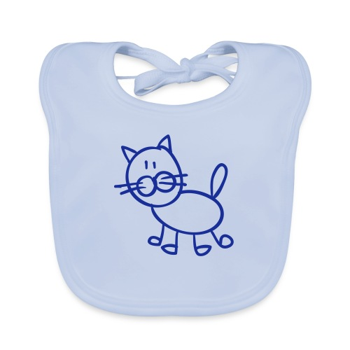 Tomcat Line Drawing Pixellamb - Baby Bio-Lätzchen