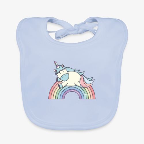 Unicornio II (Autor: stockgiu) - Babero de algodón orgánico para bebés